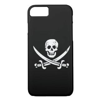 Bandera de pirata de Juan Rackham (calicó Jack) Funda iPhone 7