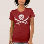 Bandera de pirata de Juan Rackham (calicó Jack) Camisetas