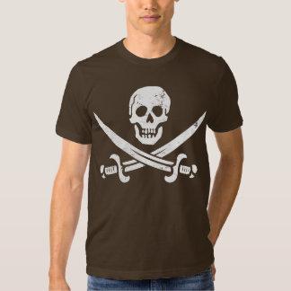Bandera de pirata de Juan Rackham (calicó Jack) Playera