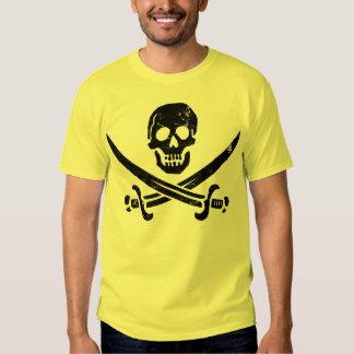 Bandera de pirata de Juan Rackham (calicó Jack) Playeras