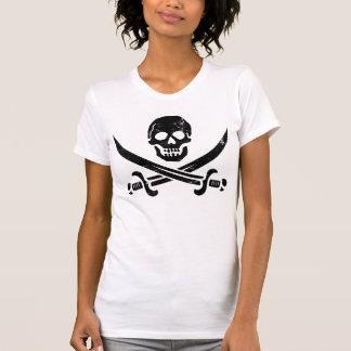 Bandera de pirata de Juan Rackham (calicó Jack) Remeras