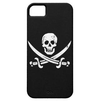 Bandera de pirata de Juan Rackham (calicó Jack) Ro iPhone 5 Case-Mate Fundas