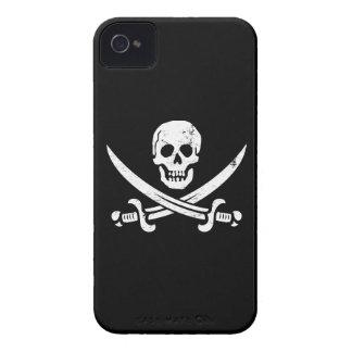 Bandera de pirata de Juan Rackham (calicó Jack) Ro Case-Mate iPhone 4 Carcasas