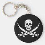 Bandera de pirata de Juan Rackham (calicó Jack) Ro Llavero Personalizado