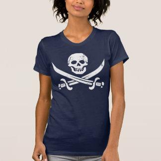 Bandera de pirata de Juan Rackham calicó Jack Ro Camiseta