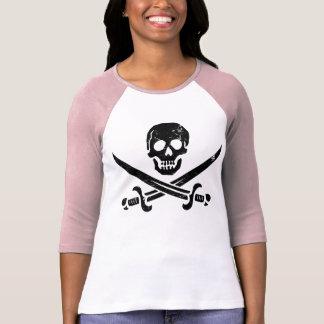 Bandera de pirata de Juan Rackham calicó Jack Ro Camisetas