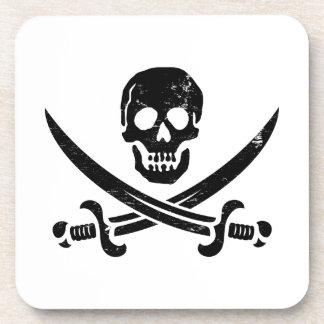 Bandera de pirata de Juan Rackham (calicó Jack) Ro Posavasos