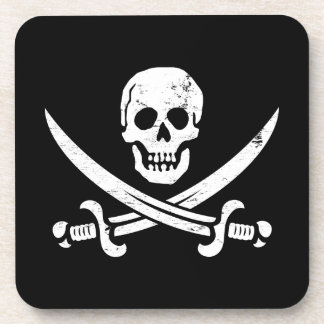 Bandera de pirata de Juan Rackham (calicó Jack) Ro Posavasos De Bebida