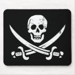 Bandera de pirata de Juan Rackham (calicó Jack) Ro Alfombrillas De Ratón