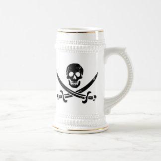 Bandera de pirata de Juan Rackham (calicó Jack) Ro Tazas De Café