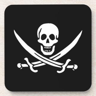 Bandera de pirata del calicó Jack Posavasos