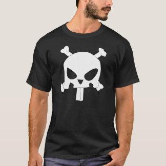 Bandera de pirata del conejito playera