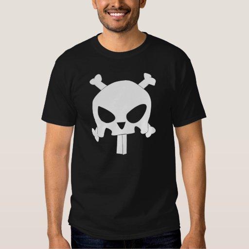 Bandera de pirata del conejito remera