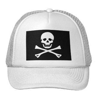 Bandera de pirata del cráneo gorras