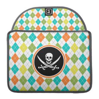 Bandera de pirata en el modelo colorido de Argyle Fundas Macbook Pro