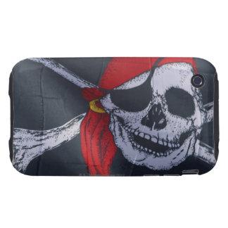 Bandera de pirata iPhone 3 tough carcasa