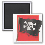 Bandera de pirata imanes para frigoríficos
