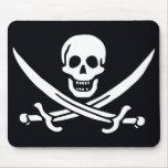 Bandera de pirata Jack Rackham Tapete De Ratones