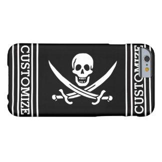Bandera de pirata personalizada funda para iPhone 6 barely there
