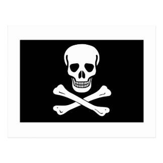 Bandera de pirata postales