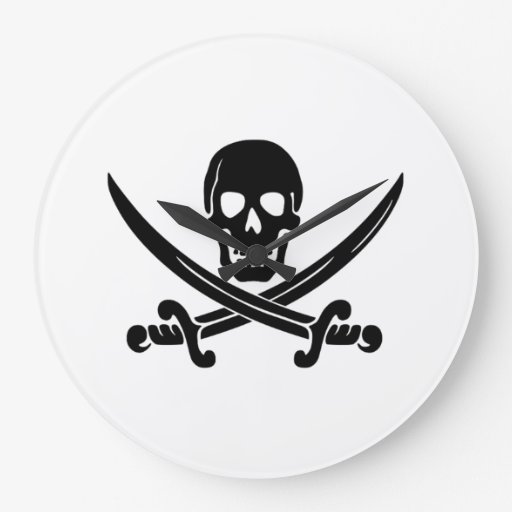 Bandera de pirata relojes