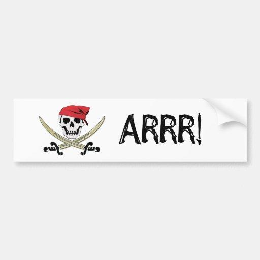 ¡Bandera de pirata Rogelio alegre Arrr! Pegatina p Etiqueta De Parachoque