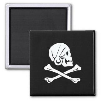 Bandera de pirata - Rogelio alegre Imán Cuadrado