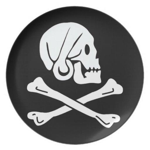 Bandera de pirata - Rogelio alegre Platos De Comidas