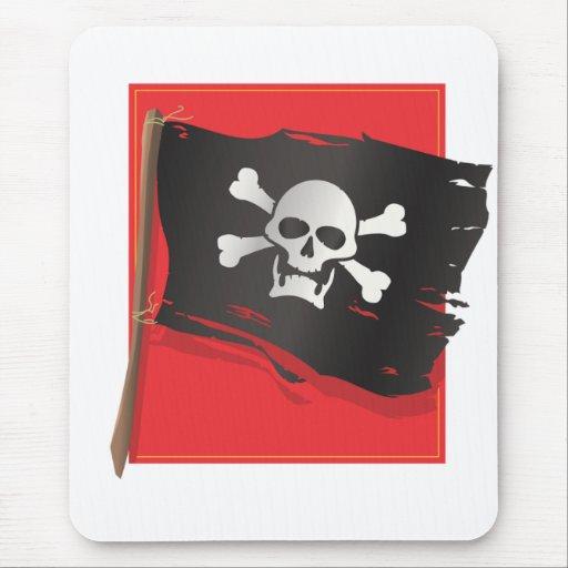 Bandera de pirata tapetes de ratones