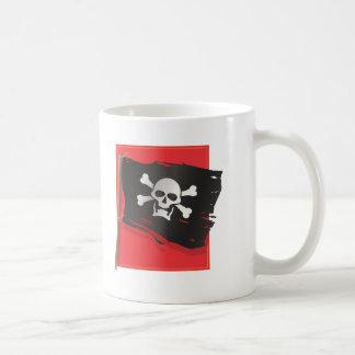 Bandera de pirata taza de café