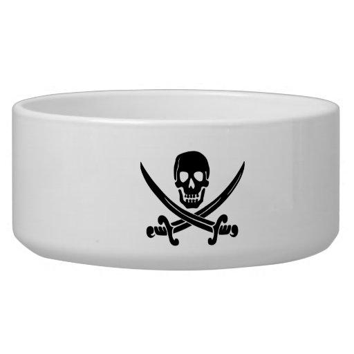 Bandera de pirata tazones para perro