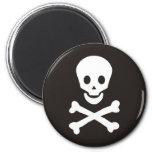 bandera de piratas iman de frigorífico