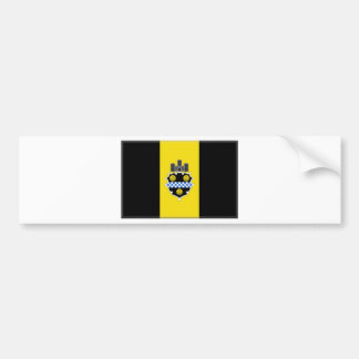 Bandera de Pittsburgh Pegatina De Parachoque