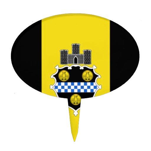 Bandera de Pittsburgh Figuras De Tarta