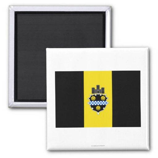 Bandera de Pittsburgh Imán Cuadrado