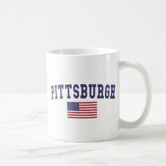 Bandera de Pittsburgh los E.E.U.U. Taza Clásica