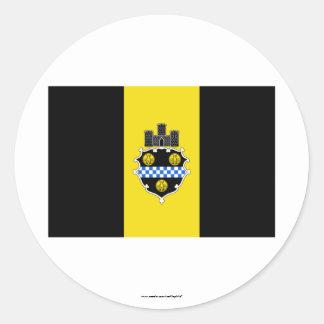 Bandera de Pittsburgh Pegatina Redonda