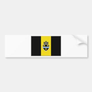 Bandera de Pittsburgh Pegatina Para Auto