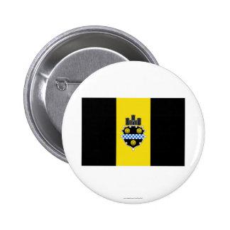 Bandera de Pittsburgh Pin Redondo 5 Cm