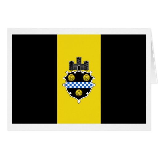 Bandera de Pittsburgh Tarjeton
