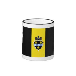 Bandera de Pittsburgh Taza De Dos Colores