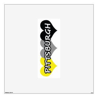 Bandera de Pittsburgh Vinilo Adhesivo