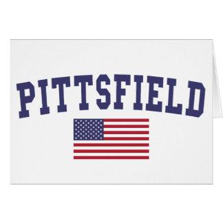 Bandera de Pittsfield los E.E.U.U. Tarjeta De Felicitación