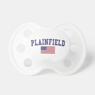 Bandera de Plainfield NJ los E.E.U.U. Chupetes De Bebé