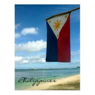 bandera de playa de Boracay Tarjeta Postal