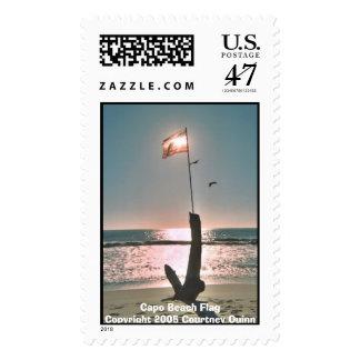 Bandera de playa de la ceja sellos