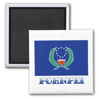 Bandera de Pohnpei, con nombre Imán Cuadrado