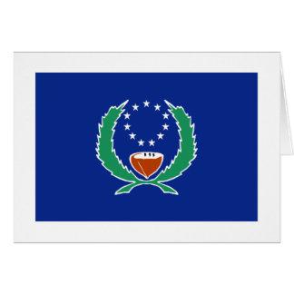 Bandera de Pohnpei Tarjeta De Felicitación