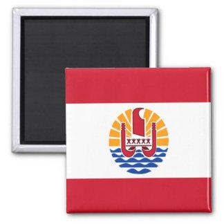 Bandera de Polinesia francesa Imán Cuadrado