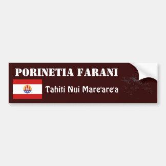 Bandera de Polinesia francesa + Pegatina para el p Pegatina Para Auto
